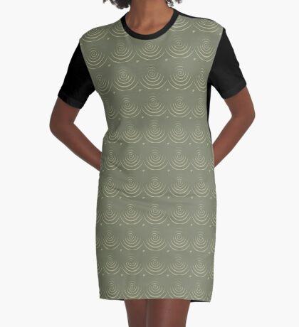 Sage Circles Graphic T-Shirt Dress