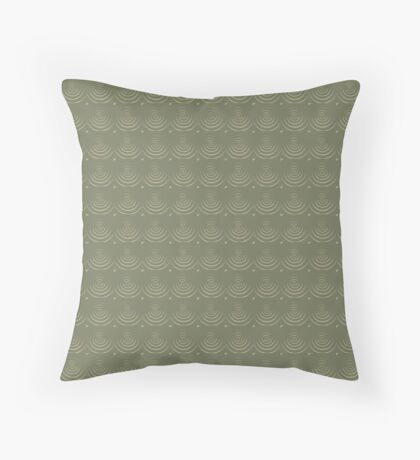 Sage Circles Throw Pillow