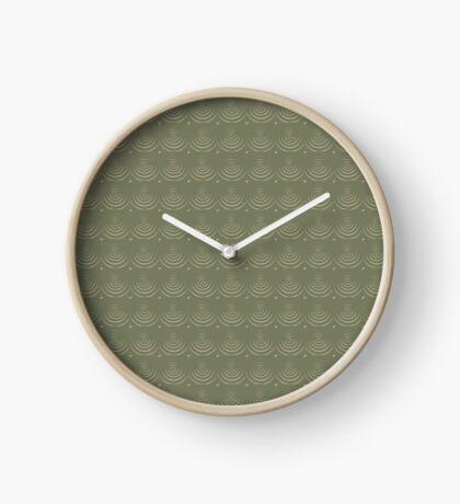 Sage Circles Clock