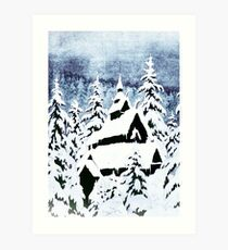 Church in the Snow Art Print