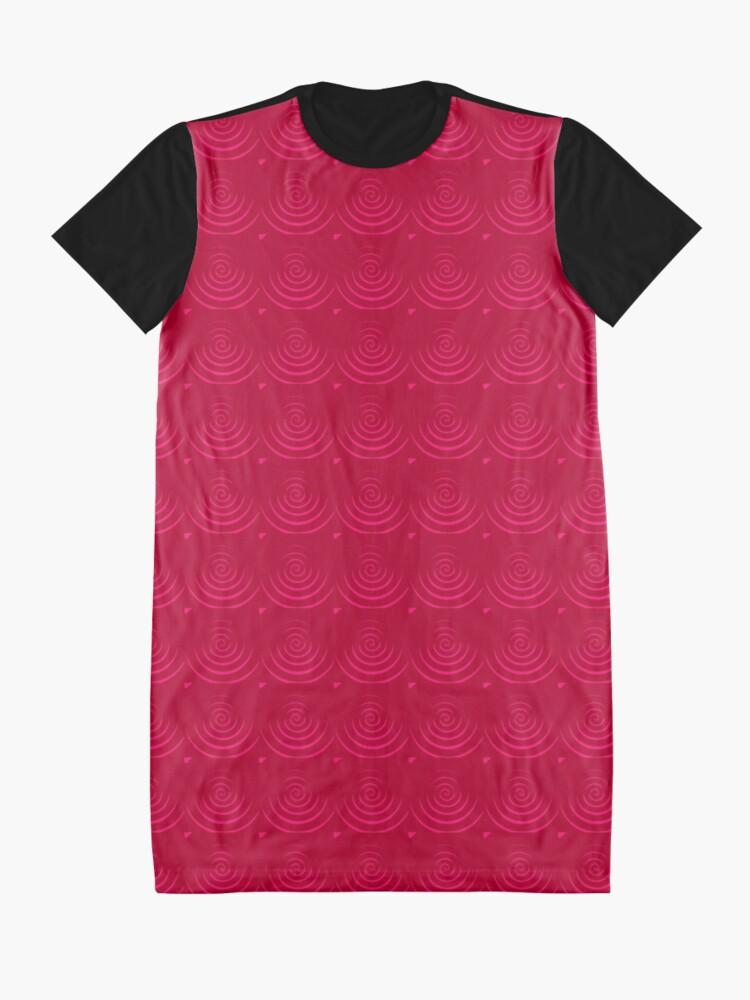 Alternate view of Magenta Red Graphic T-Shirt Dress