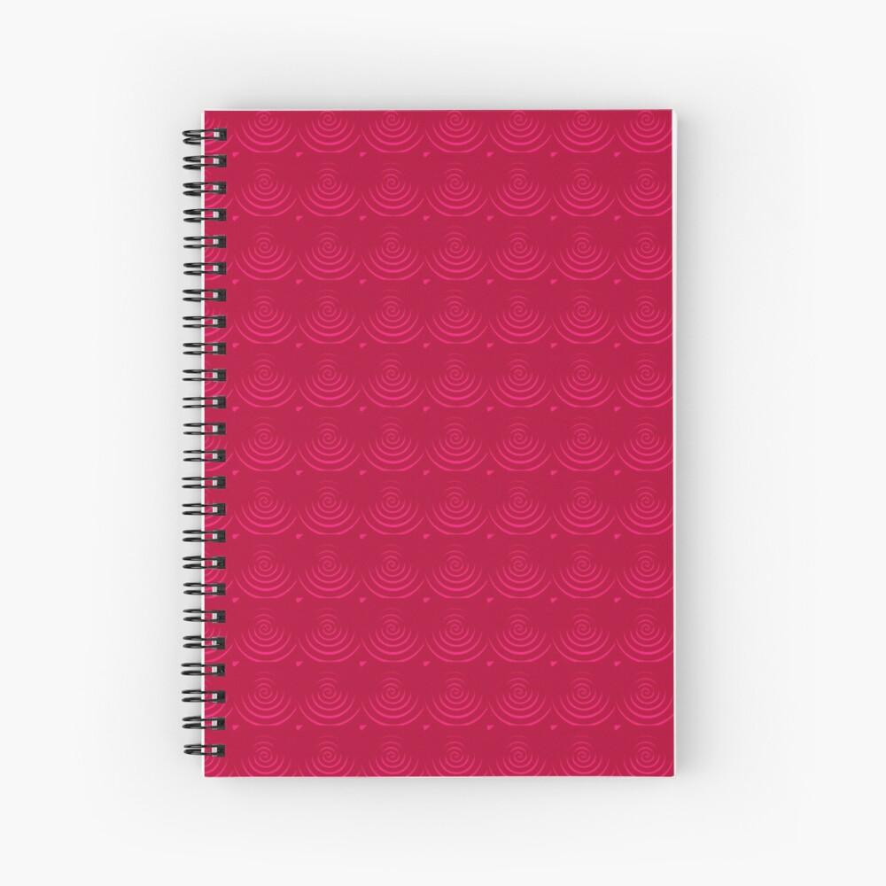 Magenta Red Spiral Notebook