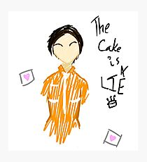 The Cake is a Lie Photographic Print