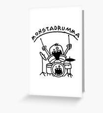 Monster Drummer Funny Drummer Shirt Greeting Card