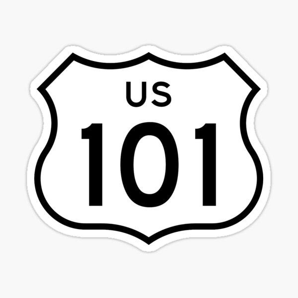US Route 101 Sticker Sticker