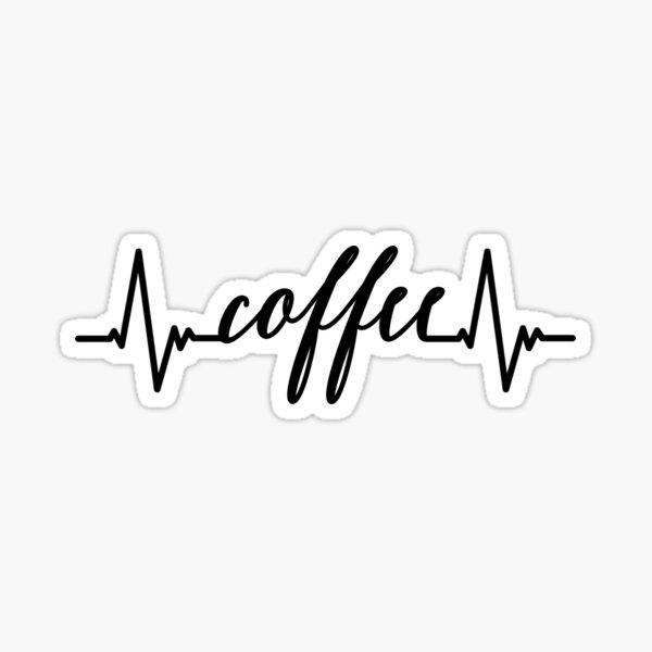 Coffee Heartbeat Sticker