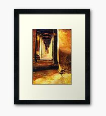 Angkor Wat Hallway- Cambodia Framed Print