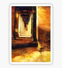 Angkor Wat Hallway- Cambodia Sticker