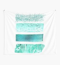 Teal and turquoise textures Wall Tapestry