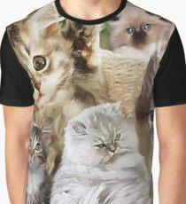 CM11013 - Love for cats Graphic T-Shirt