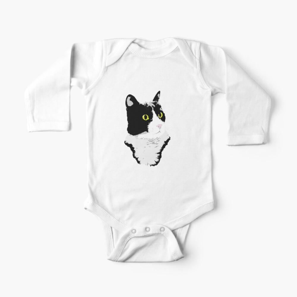 Regal Tuxedo Kitty Baby One-Piece