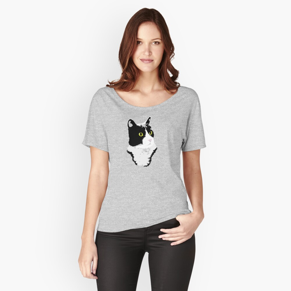 Regal Tuxedo Kitty Relaxed Fit T-Shirt