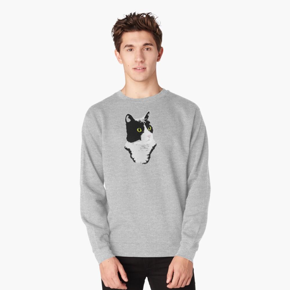 Regal Tuxedo Kitty Pullover Sweatshirt