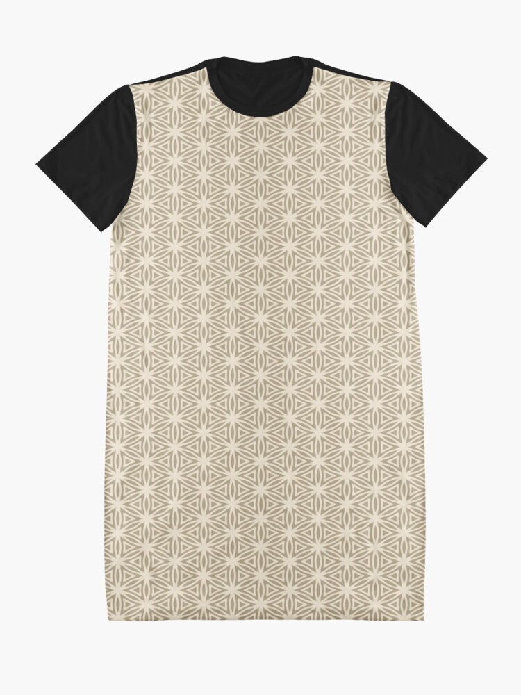 Alternate view of Taupe Snowflake Graphic T-Shirt Dress