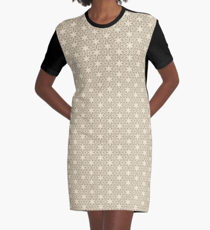 Taupe Snowflake Graphic T-Shirt Dress