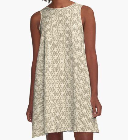 Taupe Snowflake A-Line Dress