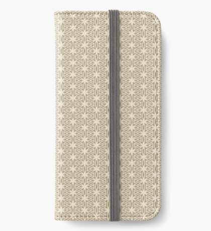 Taupe Snowflake iPhone Wallet