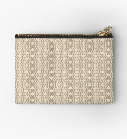Taupe Snowflake Zipper Pouch