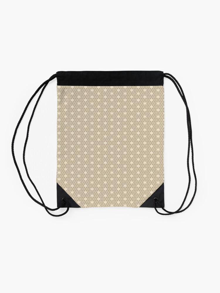 Alternate view of Taupe Snowflake Drawstring Bag