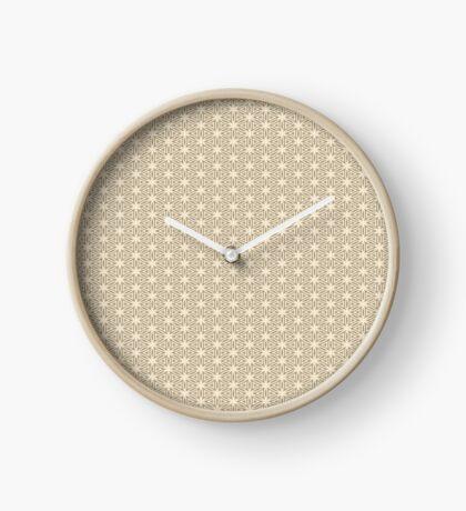 Taupe Snowflake Clock