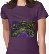 Zygopetalum Orchid Macro Womens Fitted T-Shirt