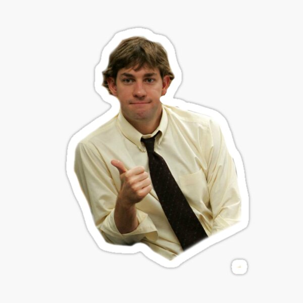 jim halpert thumbs up  Sticker