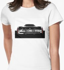 1973 Cadillac Fleetwood - High contrast Womens Fitted T-Shirt