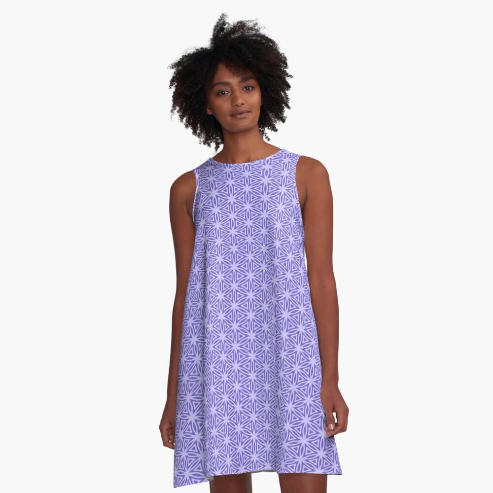 Periwinkle Snowflake A-Line Dress