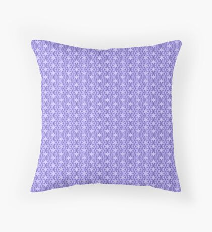 Periwinkle Snowflake Throw Pillow