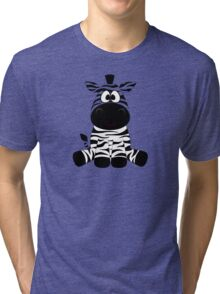 Sitting Zebra Tri-blend T-Shirt