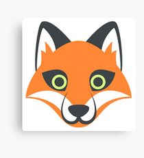 Fox Emoji Canvas Print