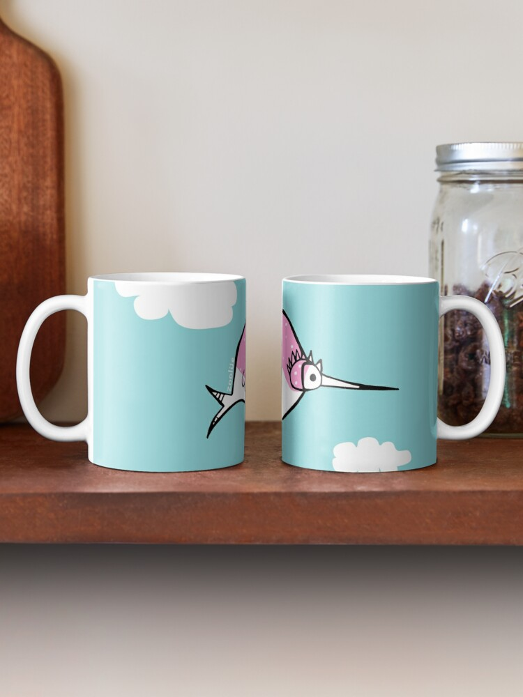 Alternate view of rosetta: the pink bubble bird  Mug