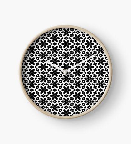 Black & White Flower  Clock