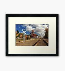 The Susanville Train Depot Framed Print