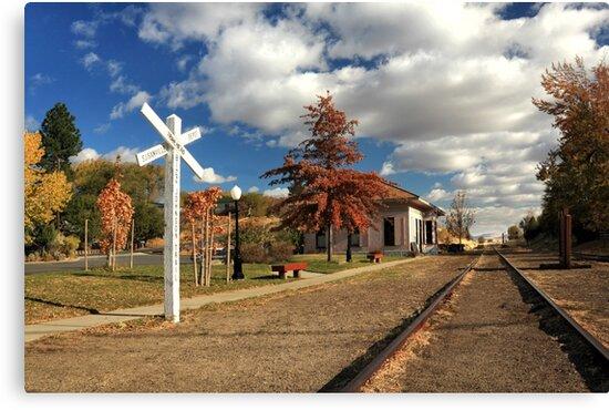 The Susanville Train Depot by James Eddy