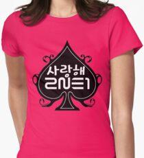 Saranghae 2NE1 Womens Fitted T-Shirt