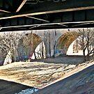Under Route 1, the bridge over the Raritan River by Jane Neill-Hancock