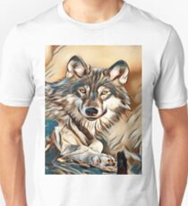 My Creative Design of a Grey Timber Wolf T-Shirt