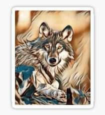 My Creative Design of a Grey Timber Wolf Sticker