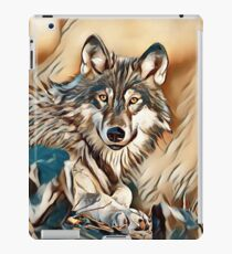 My Creative Design of a Grey Timber Wolf iPad Case/Skin