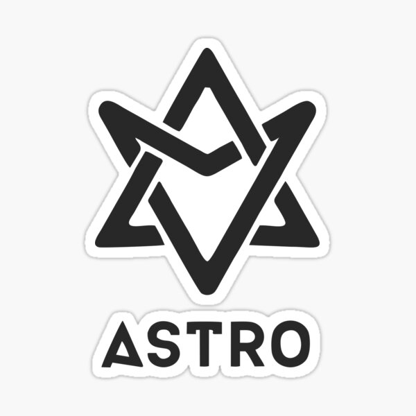 astro black logo Sticker
