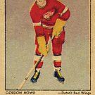 Gordie Howe NHL Rookie Karte von hackeycard
