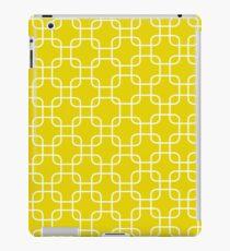 Yellow retro network squares iPad Case/Skin