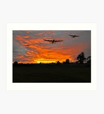 Bomber county: Lincolnshire sunset 1943 Art Print