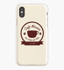 Cafe Musain - Maroon iPhone Case