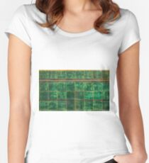 Old Green Tiles Women's Fitted Scoop T-Shirt