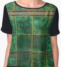 Old Green Tiles Chiffon Top