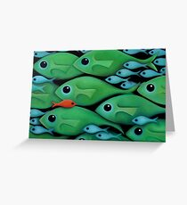 Green Fish 1 Greeting Card