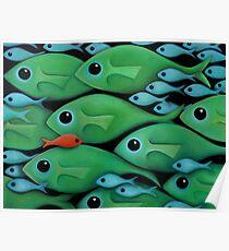 Green Fish 1 Poster