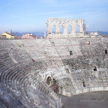 Winter inside L'Arena, Verona, Italy by leemcintyre